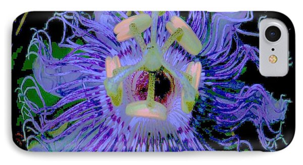 Passion Flower  IPhone Case by Shirley Moravec