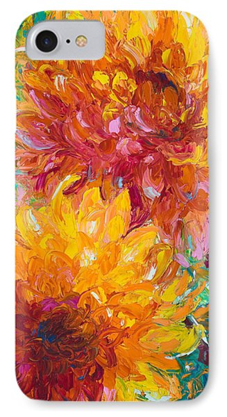 Impressionism iPhone 7 Case - Passion by Talya Johnson