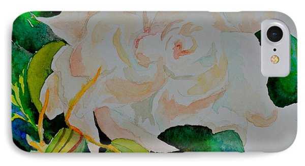 IPhone Case featuring the painting Passionate Gardenia by Beverley Harper Tinsley