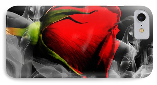 Passionate Red Hot Smoky Rose IPhone Case by Georgiana Romanovna