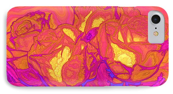 Passion's Petals Phone Case by Wendy J St Christopher