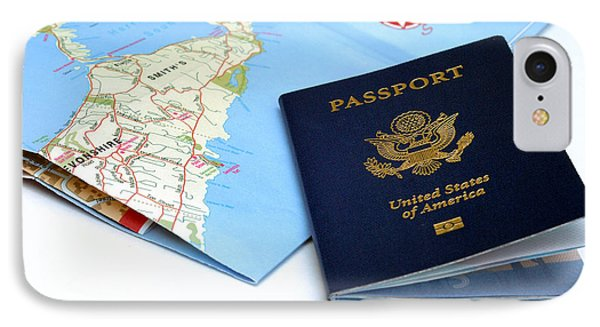 Passport And Map Of Bermuda Phone Case by Amy Cicconi