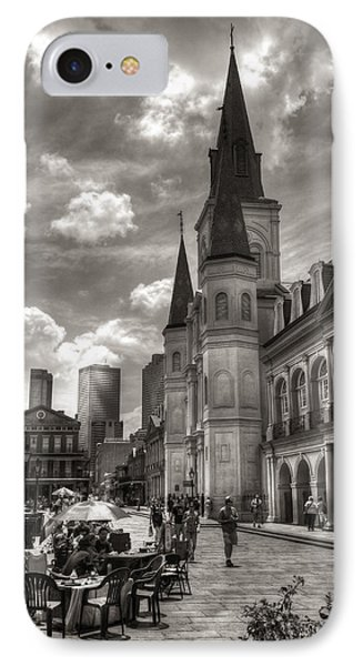 Past Present Future In Black And White Phone Case by Greg and Chrystal Mimbs