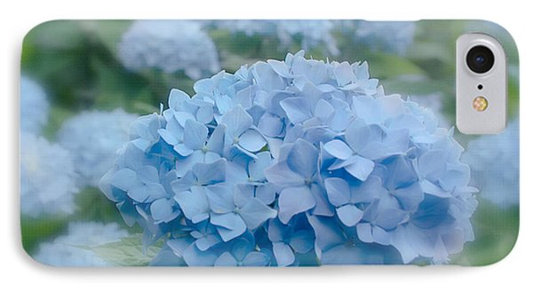 Pastel Blue Hydrangea Phone Case by Kim Hojnacki