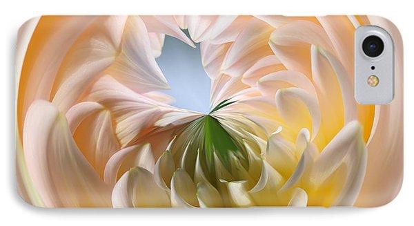 Pastel Dahlia Orb IPhone Case by Kaye Menner