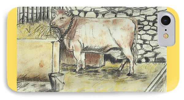 Cow In A Barn IPhone Case