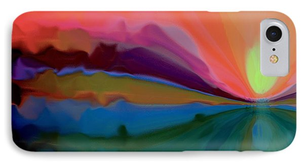 IPhone Case featuring the mixed media Pastel Dusk by Terence Morrissey