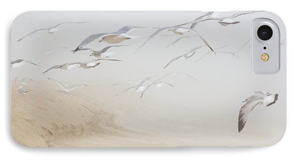 Pastel Gulls In Fog IPhone Case by Kenneth Albin