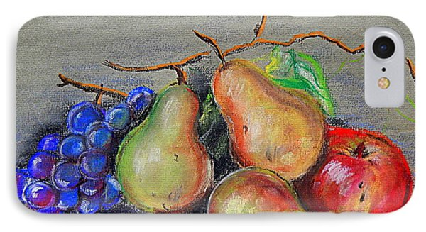 Pastel Pear Still Life IPhone Case by Michael Hoard
