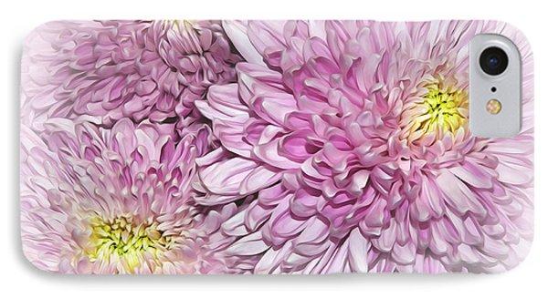 Pastel Pink Mums IPhone Case by Kaye Menner