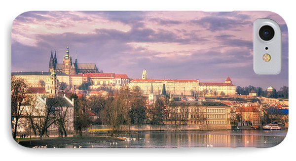 Pastel Prague Morning Phone Case by Joan Carroll