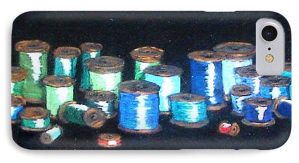 Pastel Spools-coat Of Many Colors Phone Case by Joseph Hawkins