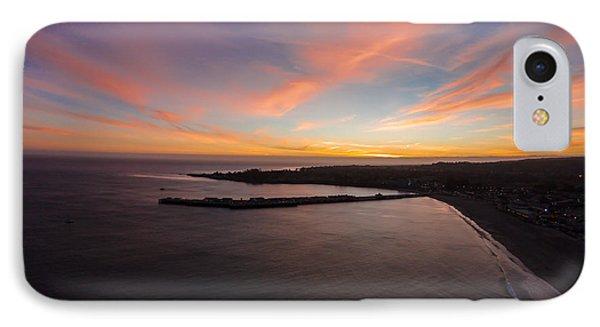 Pastel Sunset Above Santa Cruz Wharf IPhone Case