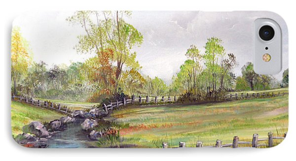 Pasture By The River IPhone Case by Dorothy Maier