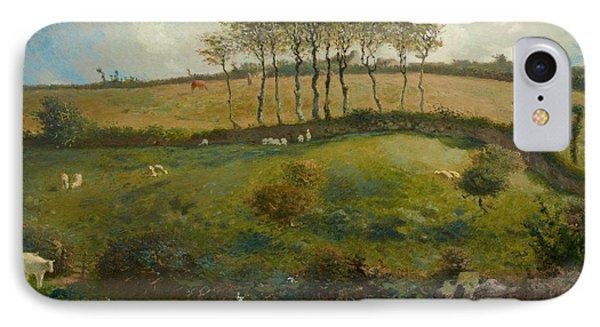Pasture Near Cherbourg Phone Case by Jean-Francois Millet