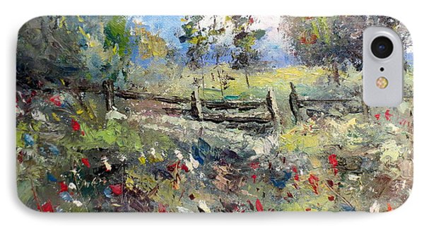 Pasture With Fence Phone Case by Lee Piper