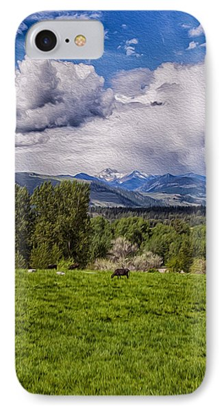 Pastures And Clouds  Phone Case by Omaste Witkowski