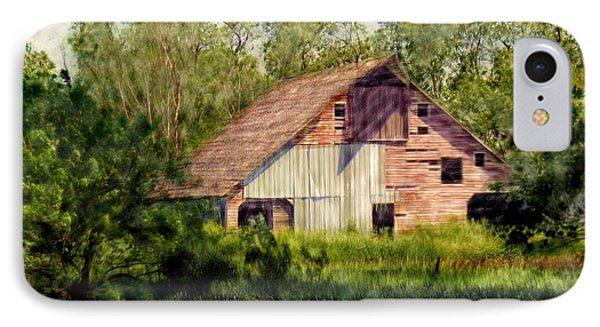 Patchwork Barn IPhone Case by Ric Darrell