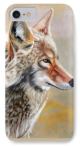 Patchwork Coyote Phone Case by Tanya Provines