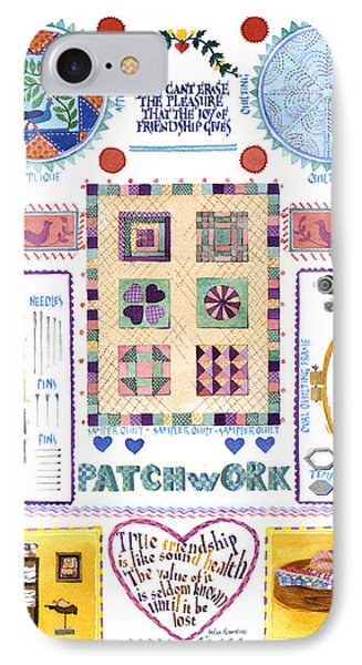 Patchwork IPhone Case by Julia Rowntree