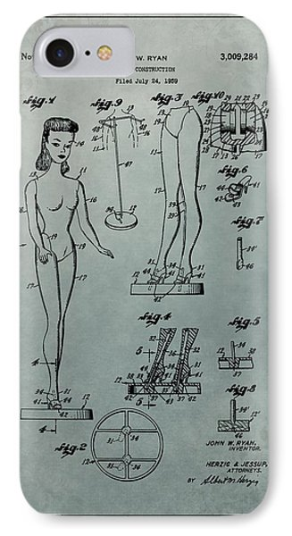Patent Art Barbie Doll IPhone Case by Dan Sproul