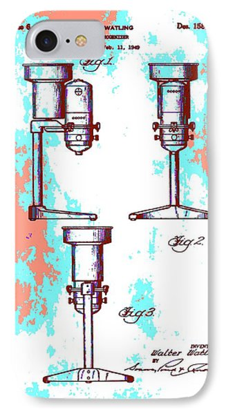 Patent Art Blender IPhone Case by Dan Sproul