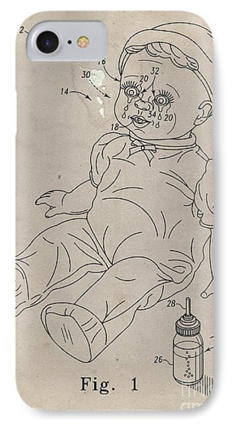 Patent For Crying Baby Doll IPhone Case by Edward Fielding