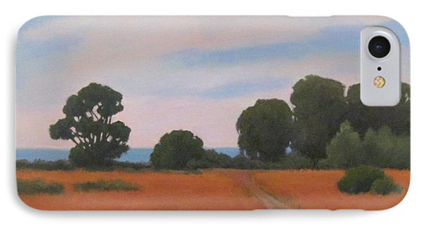 IPhone Case featuring the painting Path At Carpinteria Bluffs by Jennifer Boswell