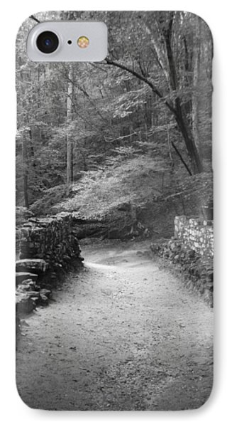 Path In Black And White IPhone Case