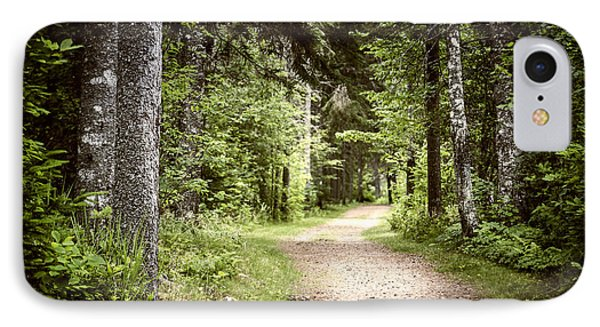 Path In Green Forest IPhone Case