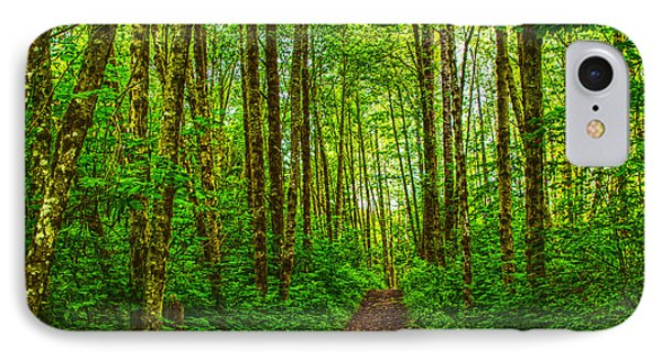 Path In Green IPhone Case by Sonya Lang