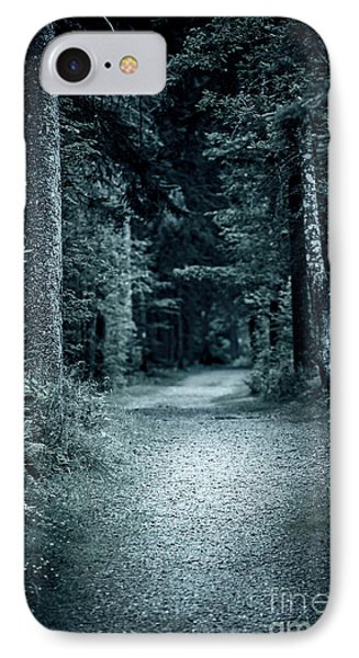 Path In Night Forest IPhone Case by Elena Elisseeva