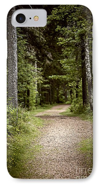 Path In Old Forest IPhone Case