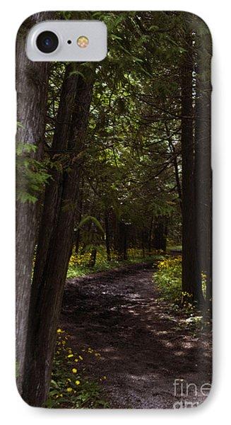 Path In The Dark Woods IPhone Case by Margie Hurwich