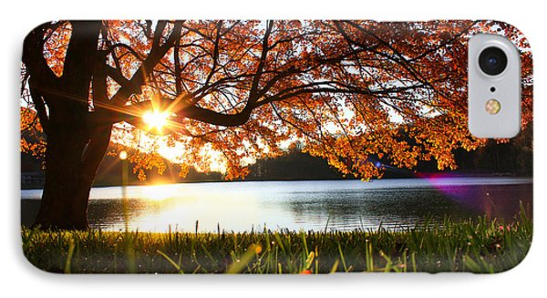 IPhone Case featuring the photograph Path Into Autumn by Everett Houser