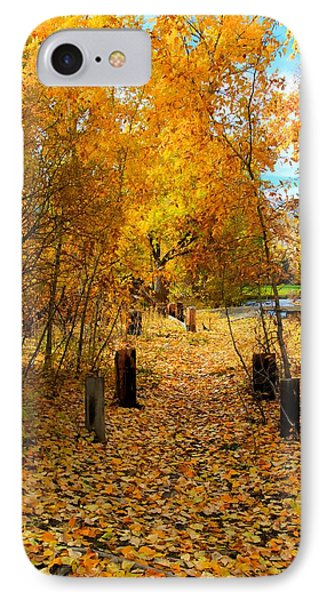 Path Of Fall Foliage IPhone Case by Kevin Bone