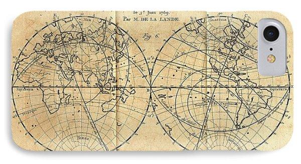 Path Of The 1761 Transit Of Venus IPhone Case