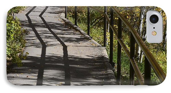 Path Shadow IPhone Case by Cheryl Miller