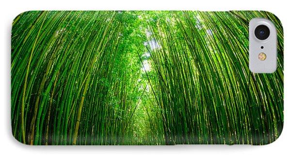 Path Through A Bamboo Forrest On Maui Hawaii Usa IPhone Case