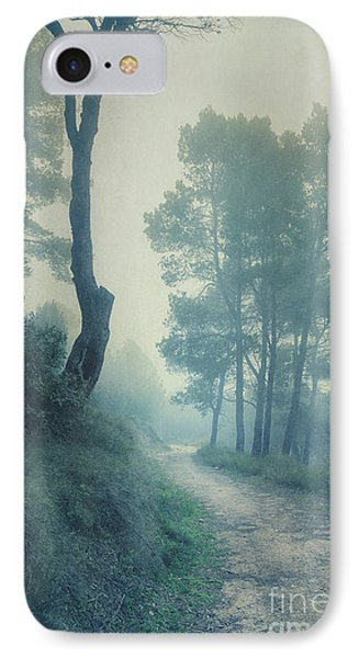 Path Through Pinewood Mist Phone Case by Paul Grand