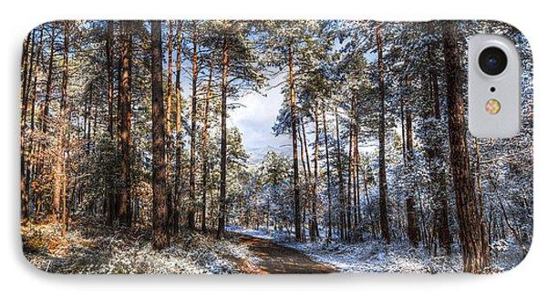 Path Throw The Snow IPhone Case by Marc Garrido