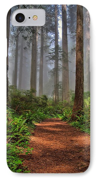 Path Thru The Redwoods Phone Case by Michael  Ayers