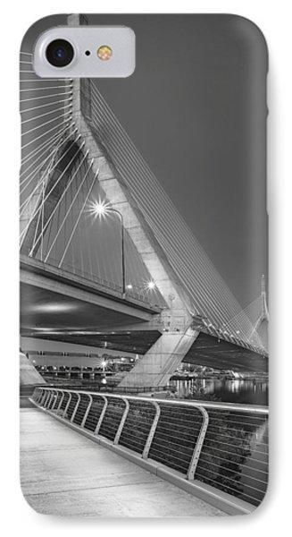 Path To The Leonard P. Zakim Bridge Bw IPhone Case