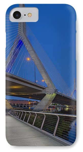 Path To The Leonard P. Zakim Bridge IPhone Case by Susan Candelario
