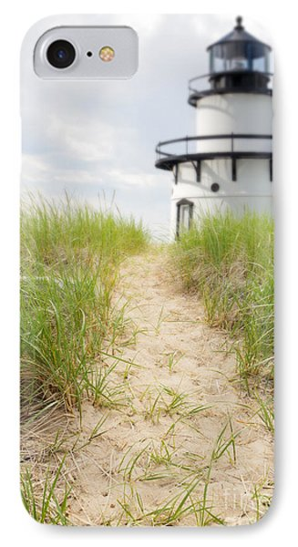 Path To The Lighthouse IPhone Case by Edward Fielding