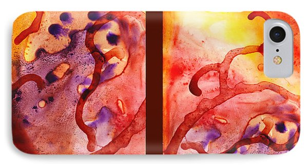Path To The Unknown Warm Diptych  IPhone Case