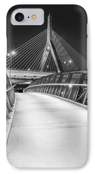 Path To The Zakim Bridge Bw IPhone Case by Susan Candelario