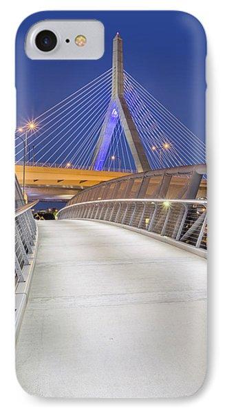 Path To The Zakim Bridge IPhone Case by Susan Candelario