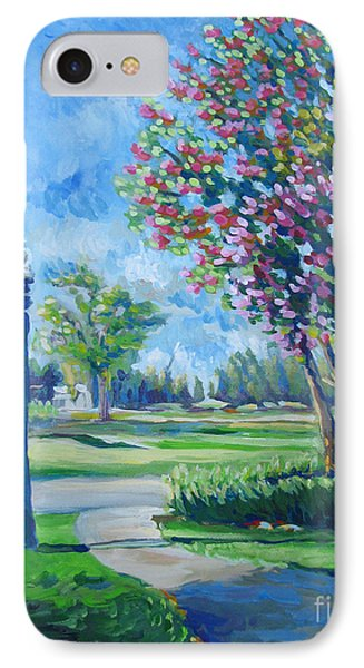 Path With Flowering Trees IPhone Case by Vanessa Hadady BFA MA