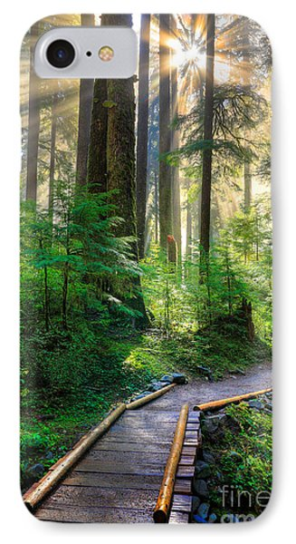 Pathway Into The Light IPhone Case by Inge Johnsson